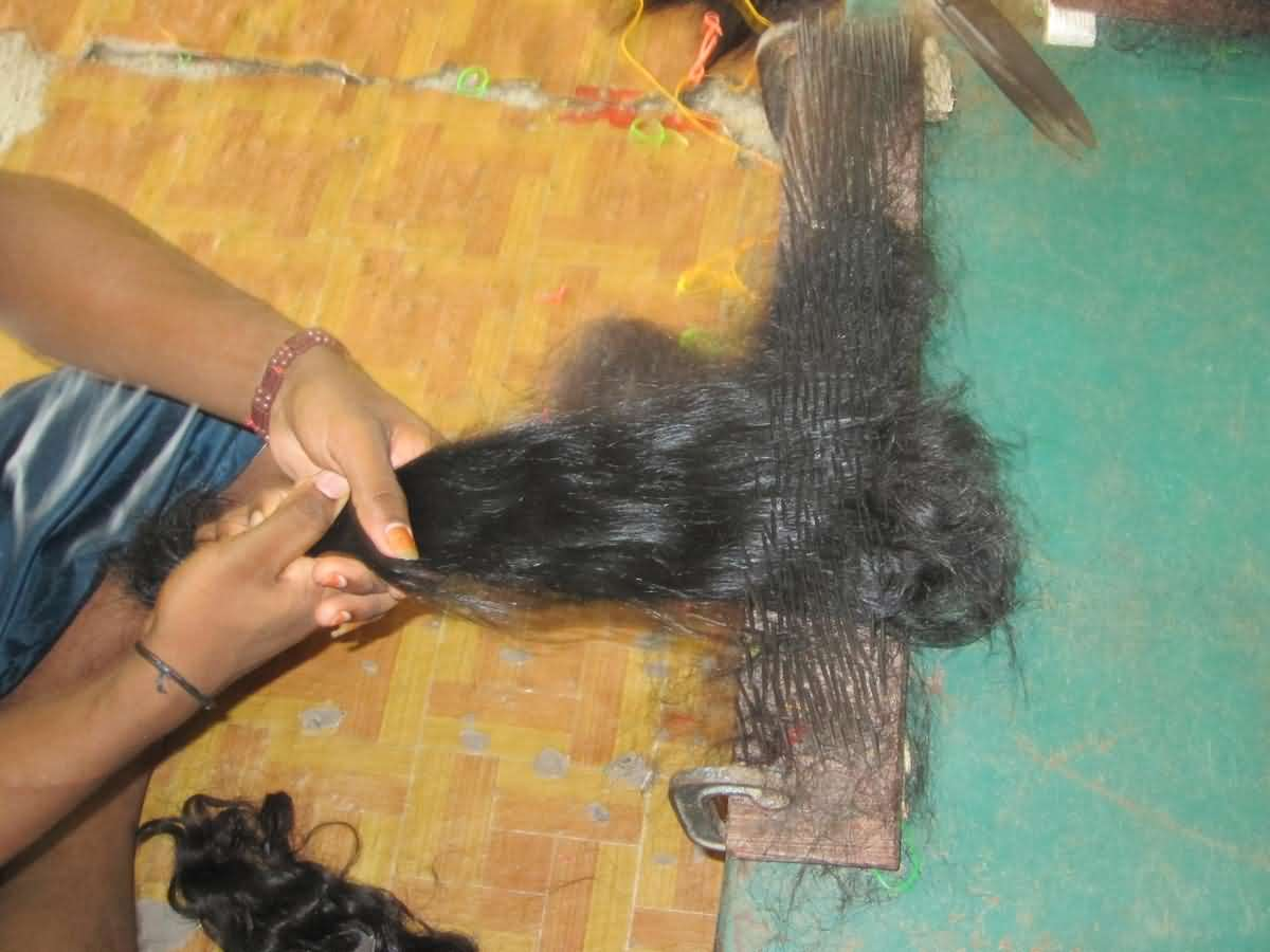 Hair sorted in our Indian  hair factory